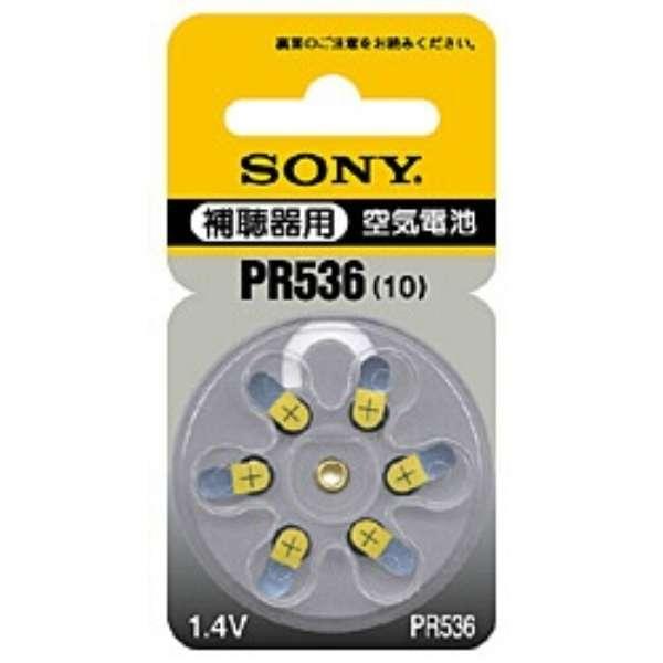 PR536 6D 補聴器用電池 空気電池 [6本 /PR536(10)]