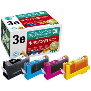 ECI-CA034P/BOX 互換プリンターインク エコリカ 4色パック
