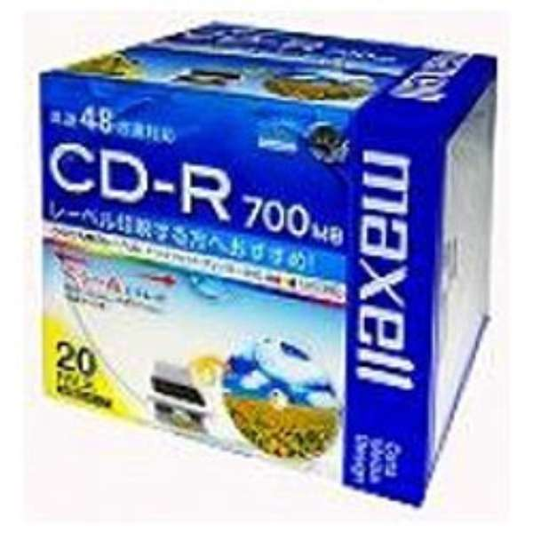 CDR700S.WP.S1P20S データ用CD-R ホワイト [20枚 /700MB /インクジェットプリンター対応]