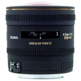 カメラレンズ 4.5mm F2.8 EX DC CIRCULAR FISHEYE HSM APS-C用 ブラック [ニコンF /単焦点レンズ]