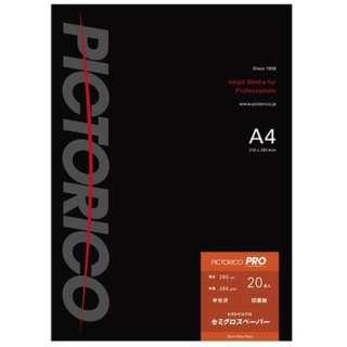 ピクトリコプロ・セミグロスペーパー A4サイズ (20枚入り) PPS200-A4/20