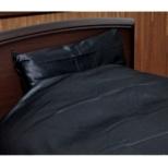 【ボックスシーツ】80サテン クィーンサイズ(綿100%/170×200×30cm/ブラック)