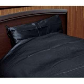 【ボックスシーツ】80サテン クィーンサイズ(綿100%/170×200×30cm/ブラック)【日本製】