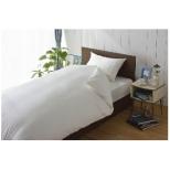 【ボックスシーツ】80サテン セミダブルサイズ(綿100%/120×200×30cm/ホワイト)【日本製】
