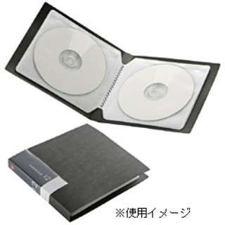 CD/DVDファイル 12枚収納 ブラック BSCD01F12BK