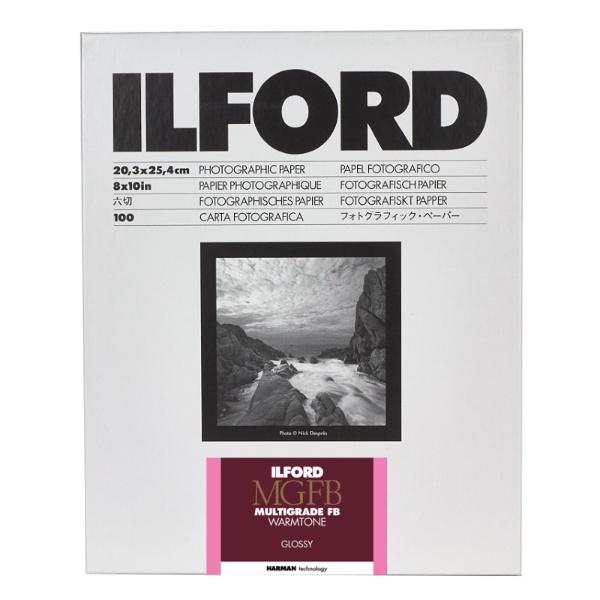 イルフォード マルチグレードFB ウォームトーン 1K 光沢8×10in 六切 100枚入 8×10in /100枚 光沢
