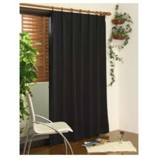 2枚組 遮光・防炎ドレープカーテン スキャット(100×200cm/ブラック)