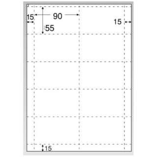 〔インクジェット〕 名刺・カード 光沢&マット 10枚 (A4サイズ 10面×10シート・ホワイト) CJ602S
