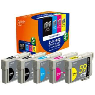 PLE-E595P 互換プリンターインク 5色パック