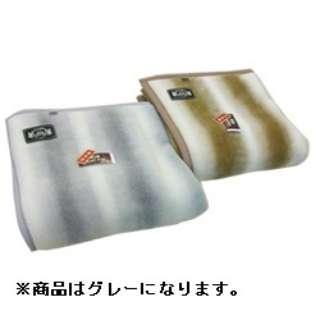 オーロラプリントニューマイヤー毛布(シングルサイズ/140×200cm/グレー)【日本製】