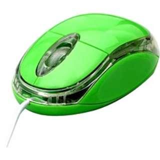 有線光学式マウス[USB&PS/2] OP-MOUSE (3ボタン・グリーン) OP-MOUSE-GR
