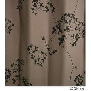 ドレープカーテン トウィッグリーフ(100×135cm/パープル)【日本製】