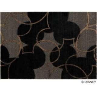 ラグ パールライン(100×140cm/ブラック)