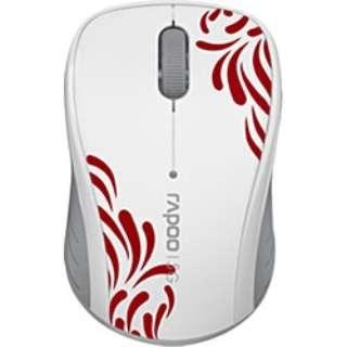 3100PW マウス Rapoo ホワイト  [光学式 /3ボタン /USB /無線(ワイヤレス)]