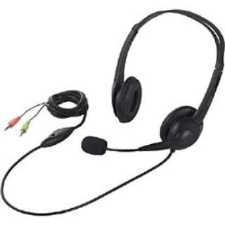 BSHSH07BK ヘッドセット ブラック [φ3.5mmミニプラグ /両耳 /ヘッドバンドタイプ]
