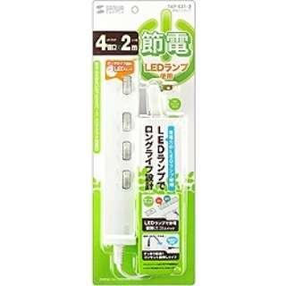 電源タップ[2ピン式・4個口] 節電エコ (2m) TAP-S21-2 [生産完了品 在庫限り]
