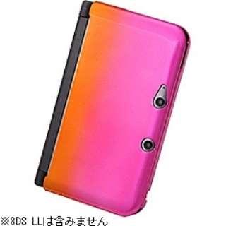 ハードコーティング・グラデーション・ハードジャケット オレンジ/ピンク【3DS LL】