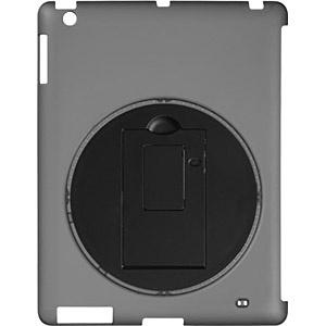 iPad Retina/新しいiPad用 回転スタンド付きシェルカバー (ブラック) GH-CA-IPADRK