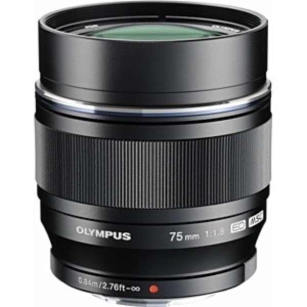 カメラレンズ ED 75mm F1.8 M.ZUIKO DIGITAL(ズイコーデジタル) ブラック [マイクロフォーサーズ /単焦点レンズ]