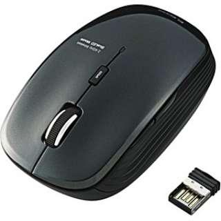 M-BL21DBBK マウス ブラック  [BlueLED /5ボタン /USB /無線(ワイヤレス)]