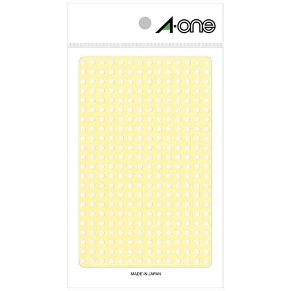 カラーラベル 14列×24段 白 07690 [4シート /336面 /光沢]