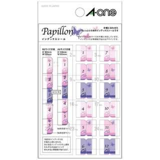 手帳用シール Papillon パピヨン 05221 [1シート /12面 /光沢]