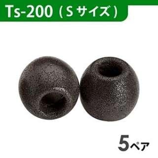 イヤーピース(ブラック/Sサイズ/5ペア)Ts-200BLKS5P
