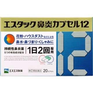 【第(2)類医薬品】 エスタック鼻炎カプセル12(20カプセル)〔鼻炎薬〕
