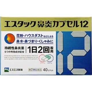【第(2)類医薬品】 エスタック鼻炎カプセル12(40カプセル)〔鼻炎薬〕