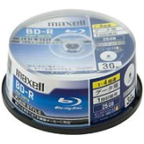 BR25PPLWPB.30SP データ用BD-R PLAIN STYLE ホワイト [30枚 /25GB /インクジェットプリンター対応]