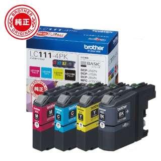 LC111-4PK 【ブラザー純正】インクカートリッジ4色パック LC111-4PK 対応型番:MFC-J877N、MFC-J727D/DW、DCP-J957N、DCP-J557N 他 4色パック