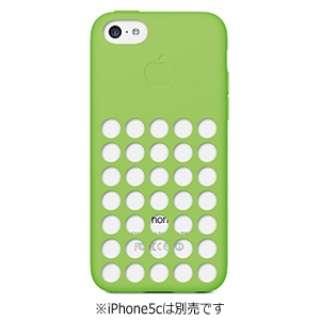 【純正】 iPhone 5c用 シリコンケース (グリーン)