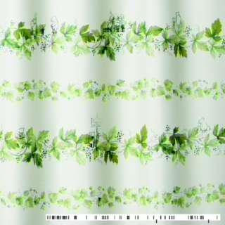ドレープカーテン プー/リース(100×178cm/グリーン)【日本製】