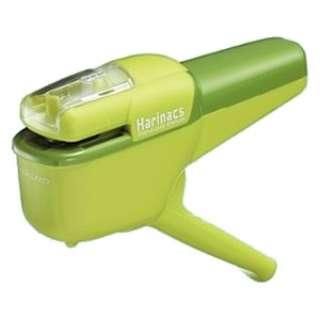 針なしステープラー「ハリナックス」緑(ハンディ10枚) SLN-MSH110G