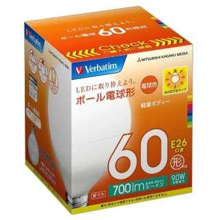 LDG9L-G/VP1 LED電球 バーベイタム(Verbatim) [E26 /電球色 /1個 /60W相当 /ボール電球形 /広配光タイプ]