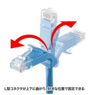 KB-T5YL-003LB LANケーブル ライトブルー [0.3m /カテゴリー5e /スタンダード]
