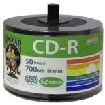 データ用CD-R[50枚 /700MB /インクジェットプリンター対応] HIDISC HDCDR80GP50SB2
