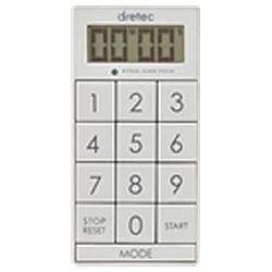 ドリテック デジタルタイマー「スリムキューブ」 T-520WT 調理器具