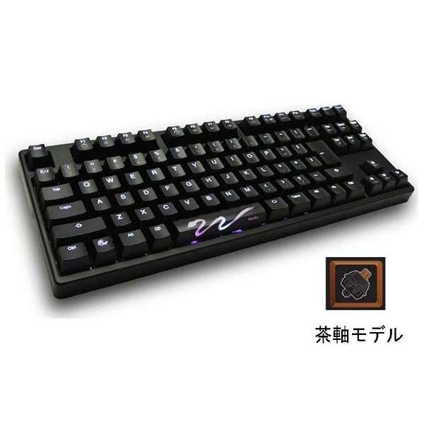 DK9087S3-BJNALAAW1 キーボード LED Backlit Tenkeyless Mechanical Keyboard CHERRY MX 茶軸 Shine3 [USB /コード ]