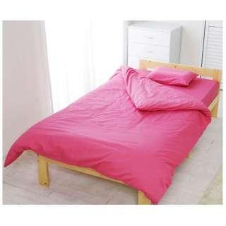 【ボックスシーツ】アイリスオーヤマ CMB-S シングルサイズ(綿100%/100×200×25cm/ピンク)