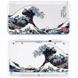 堅装飾カバー透 津波<北斎>【3DS】