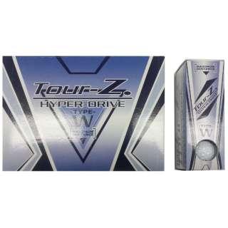 【公認球】ゴルフボール Tour-Z. HYPER-DRIVE -TYPE- W《1ダース(12球/ホワイト)》TZHD-BC1408 【オウンネーム非対応】