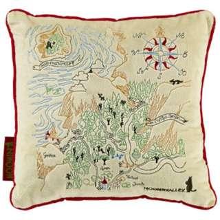 クッション ムーミン 谷の地図(全面刺繍)(30×30cm)