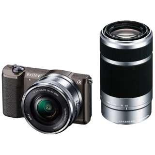 α5100 ダブルズームレンズキット(ブラウン/ミラーレス一眼カメラ)ILCE-5100Y