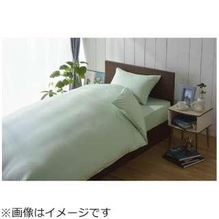 【ワンタッチシーツ】スーピマ シングルサイズ(綿100%/105×215cm/グリーン)【日本製】