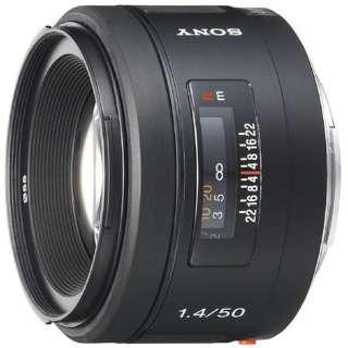 カメラレンズ 50mm F1.4 ブラック SAL50F14 [ソニーA(α) /単焦点レンズ]
