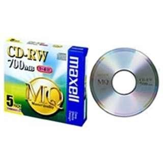 CDRW80MQ.S1P5S データ用CD-RW MQシリーズ [5枚 /700MB]
