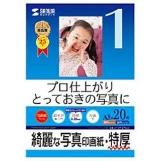 """""""インクジェット写真印画紙"""" 特厚 (A3サイズ・20枚) JP-EP2NA3"""