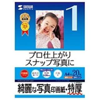"""""""インクジェット写真印画紙"""" 特厚 (A4サイズ・20枚) JP-EP2NA4"""