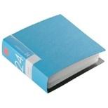 CD/DVDファイル 24枚収納 ブルー BSCD01F24BL